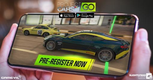 ワンタッチで操作可能なスマホ向け実写型レーシングゲーム「Project CARS GO」の事前登録が開始!