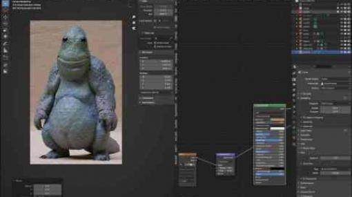 Blender + Painter Scale Creature - BlenderとSubstance Painterを活用したクリーチャーモデル製作タイムラプス映像!プロシージャルな鱗のSBSファイルも販売中!