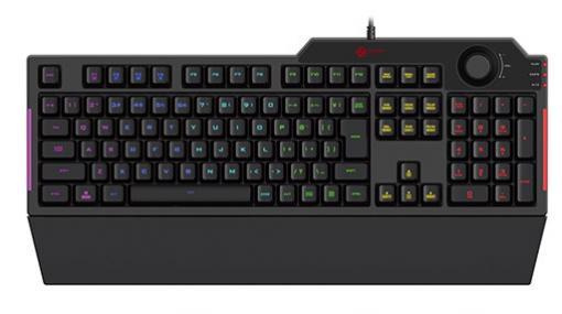 エレコム,カラーLED搭載で税込約6500円のメンブレンキーボードを発売