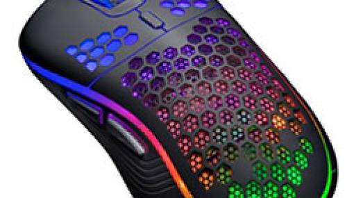 重量約80gで光るゲーマー向けワイヤードマウスがセンチュリーから