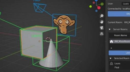 Mixer v1.0 - UbisoftによるBlender向けリアルタイムコラボレーション(共同編集)アドオンの正式バージョンがリリース!無料!