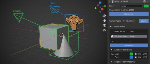 「Blender」でリアルタイム共同編集 ~Ubisoftが「Mixer」アドオンを正式公開 - 窓の杜