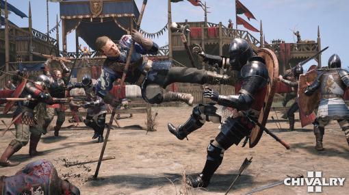 血みどろ中世剣戟アクション『Chivalry 2』5月28日よりクロスプレイ対応オープンベータテスト開始へ。64人サーバーでカオスな戦場が展開