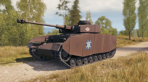 「あんこうチーム」のエンブレムを付けたIV号戦車H型が登場! 「World of Tanks」と「ガルパン」のコラボ決定!