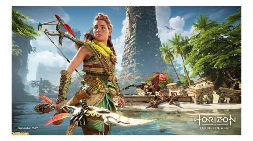 『ホライゾン Forbidden West』PS5でのプレイ映像が公開。弓や敵から奪った銃、潜水マスク、ウイングなど、多彩な武器で機械獣に立ち向かう