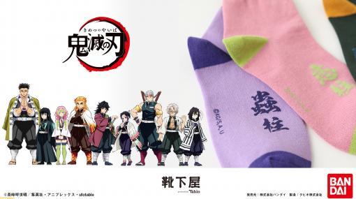 『鬼滅の刃』冨岡義勇、胡蝶しのぶなど柱をイメージしたオリジナル靴下が登場。6月16日より予約受付開始
