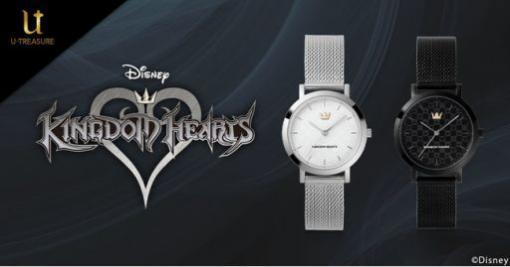 「キングダム ハーツ」のモノグラム腕時計が販売開始。シルバーとブラックの2種類