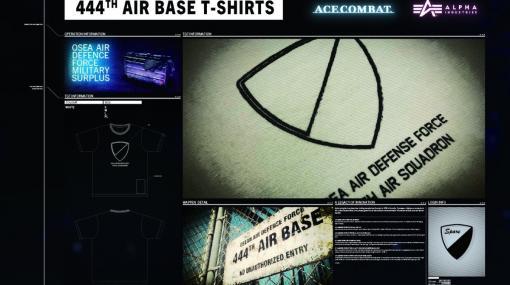 ALPHA INDUSTRIES×「エースコンバット」過去作のエンブレムがプリントされたコラボTシャツが6月25日に発売!