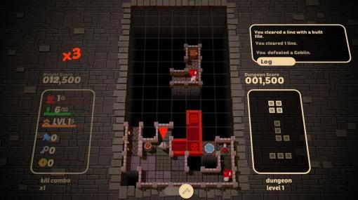 テトリス式ダンジョン探索RPG『Blocky Dungeon』Steam向けに今夏配信へ。ブロックでダンジョン構築、モンスターもろともライン消し