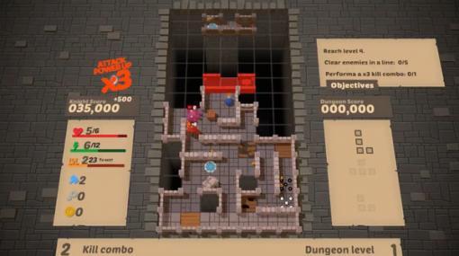 テトリス+ローグライクなダンジョン探索ゲーム『Blocky Dungeon』今夏Steam配信予定