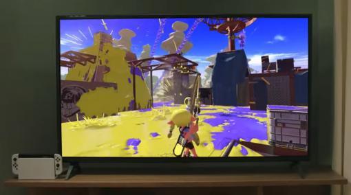 新型Switchの紹介映像内で「スプラトゥーン3」の新ブキ使用映像がチラ見せ!