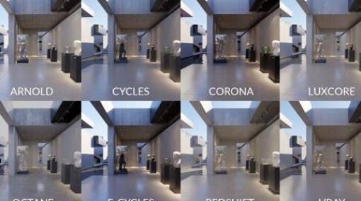 Render Engine Comparisons 2021 - 主要レンダラーでどれか最速なのか徹底比較検証を行った動画が公開!Arnold,Cycles,Corona,Octane,Redshift,LuxCore,V-Ray
