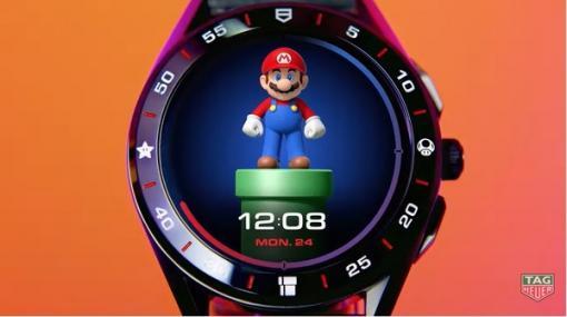 タグ・ホイヤー「スーパーマリオ」コラボ腕時計を世界限定2,000本発売―GoogleのWear OS内蔵でマリオが盤面でアクティブに動く