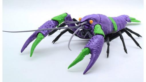 【エヴァ】エヴァンゲリオンが水棲ザリガニ型決戦兵器に。アメリカザリガニに初号機と2号機のカラーリングを施したプラスチック製組み立てフィギュアキットが登場