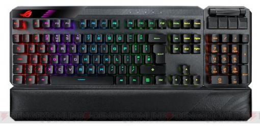 テンキーを着脱して左右に設置可能! ASUS無線対応ゲーミングキーボード発売