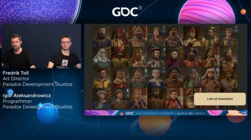 """[GDC 2021]「Crusader Kings III」の""""遺伝""""システムとキャラクターグラフィックスの自動生成について,技術とアートの両面から解説"""