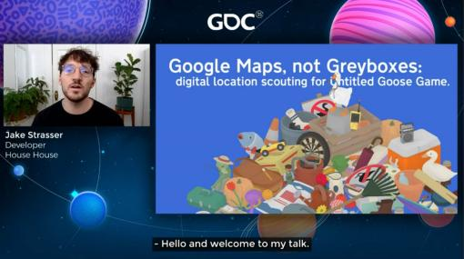 [GDC 2021]Google マップから作られた「Untitled Goose Game」のマップは,何を目指したのか