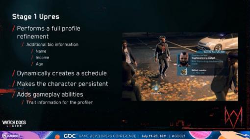 """[GDC 2021]「ウォッチドッグス レギオン」の""""ロンドンの人々の誰もが主人公""""となるゲーム性を支え,その世界における""""社会""""を築いたAIシステム・Census"""