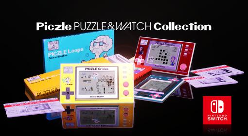 「ピクセルパズル&ウォッチコレクション」が本日配信。3種類のピクセルパズルゲームをレトロな携帯型ゲーム機デザインで楽しめる