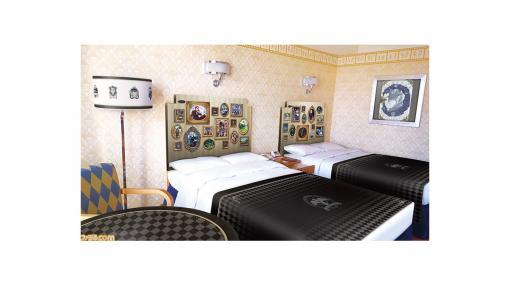 ディズニーアンバサダーホテルに『ツイステ』をテーマにした客室とケーキセットが登場。マジカルペンをイメージしたスペシャルルームキーなどがもらえる