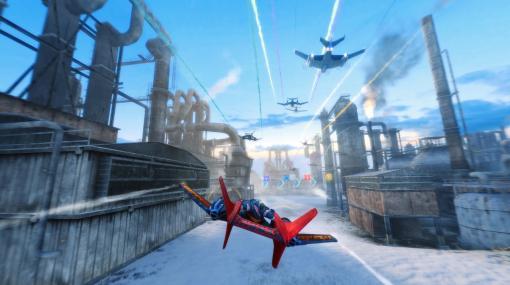 戦闘機レースアクションゲーム『スカイドリフト インフィニティ』配信開始。パワーアップを使いこなしてトップを目指せ