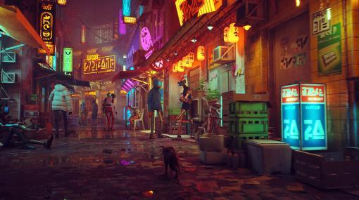 """サイバーパンクな街を猫として探検するADV『Stray』ゲームプレイ映像公開。とくに意味のない""""ただ、猫らしい""""アクションもあり"""