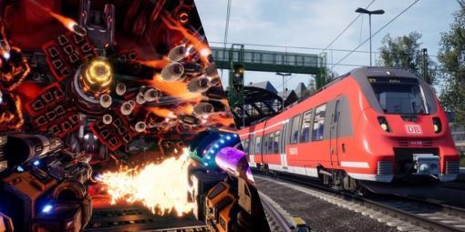 Epic Gamesストアにて『Mothergunship』『Train Sim World 2』無料配布中。ゴテゴテ改造銃FPSとリアリスティック鉄道シムの2本立て