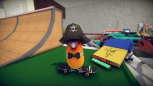 小鳥になって滑るスケボーゲーム『SkateBIRD』9月16日に配信延期。文房具のスケートパークでパタパタ躍動し仲間を集める