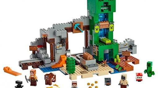 『レゴ マインクラフト』巨大クリーパー像やトロッコを再現できる鉱山セットがお買い得!