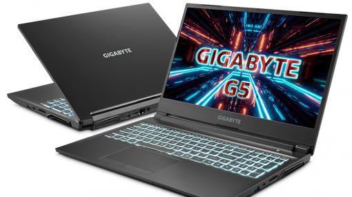 GIGABYTE,RTX 3050 Ti&i5-11400H搭載の15.6型ノートPCを発売