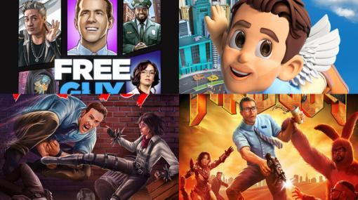 『GTA』『DOOM』『あつ森』…まさかの『Among Us』も?映画「フリー・ガイ」ゲームパロディポスターが公開