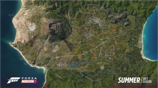 『Forza Horizon 5』多様なバイオームで構成される広大な全体マップを初公開!