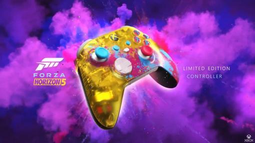 Xbox ワイヤレス コントローラー「Forza Horizon 5」特別エディションを発表ビビッドな色使いがお祭り気分満載な限定版。インゲームアイテムも付属