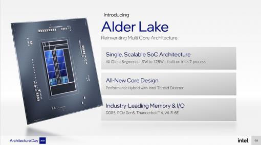 Intelの次世代CPU「Alder Lake」は,高性能コアと高効率コアを組み合わせてPC向けCPUに変革をもたらす
