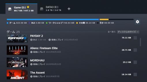"""SteamがアップデートでUIを強化。""""ダウンロード""""のリニューアルや""""ストレージマネージャー""""の追加など"""