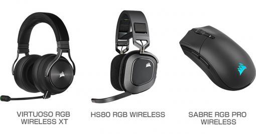 低遅延ワイヤレス接続技術採用のCorsair製ヘッドセットとマウスが発売