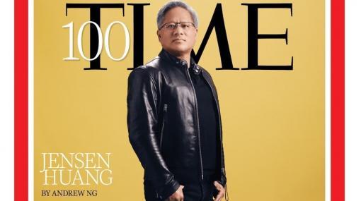 エヌビディア創業者/CEOのジェンスン・フアン氏が米タイム誌の選ぶ「世界で最も影響力のある100人」へ選出。おなじみの革ジャン姿で表紙を飾る