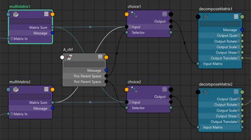 TIPS 09:【Maya】Matrixで親空間の切り替えリグを実装してみよう - 連載