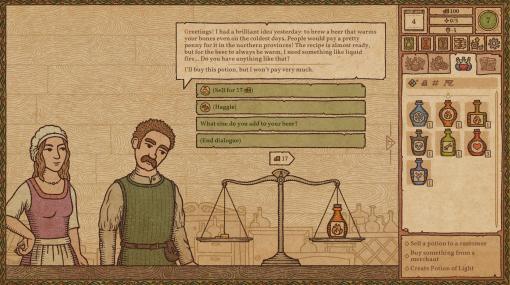 「Potion Craft: Alchemist Simulator」のアーリーアクセス版が本日リリース。客の要望に合わせてポーションを作るシミュレーションゲーム