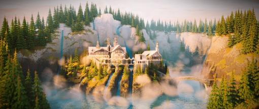 『マインクラフト』で「ロード・オブ・ザ・リング」裂け谷を再現―制作期間は約1か月