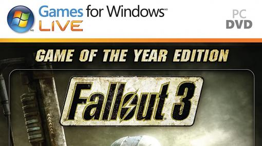 『Fallout 3: Game of the Year Edition』Steam版にアップデート配信。「Games for Windows – LIVE」不要で起動可能に