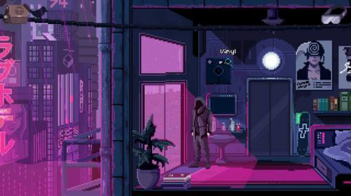 サイバーパンクADV『VirtuaVerse』コンソール版が海外で10月28日配信予定―ドットで描かれるサイバーパンクの世界
