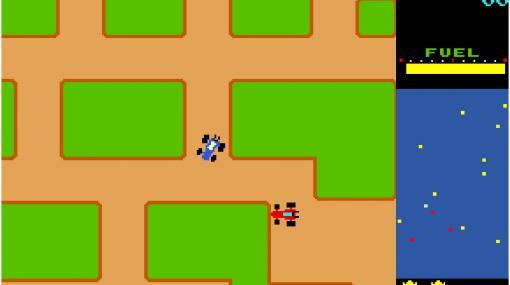 PS4/Switch「アーケードアーカイブス ラリーX」が10月14日にリリース。レッドカーの追撃を避けつつ,フラッグを回収するアクションゲーム
