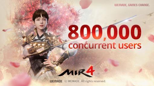 MMORPG「MIR4」のグローバル版における同時接続者数が80万人を突破