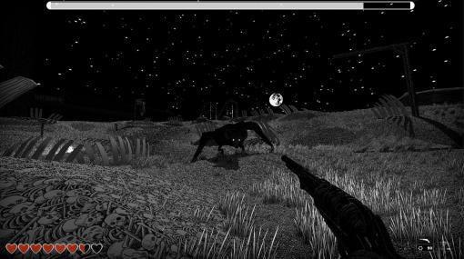 モノクロFPS『キングダム・オブ・ザ・デッド』2022年1月26日発売へ。白黒で描かれる世界で、迫りくる死者の群れを屠れ