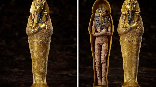 """古代エジプト王""""ツタンカーメン王""""がフル可動のアクションフィギュア""""figma""""になって登場。黄金に輝く棺やマスクを細部に至るまで再現"""