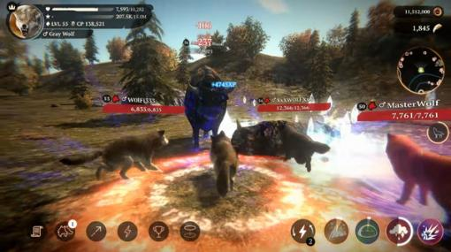 野生オオカミとして生きるオンラインRPGシミュレーター『The Wolf』配信開始!